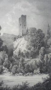 TORRE-BELLECOMBE-TARENTAISE-AIGUEBLANCHE-GRAN-SABOYA-LITOGRAF-A-H-TERRY-s-XIX