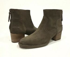 b1008190547 Details about UGG BANDARA ANKLE BOOTS STACKED HEEL MYSTERIOUS BROWN SUEDE  -US 11 -NEW