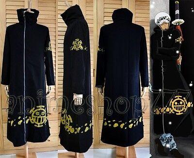 One Piece Trafalgar Law Coat Cosplay Costume custom made any size