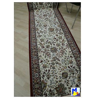TOP ! klassischer Teppich Läufer *Infi Oriental beige* 80 cm breit gewebt NEU