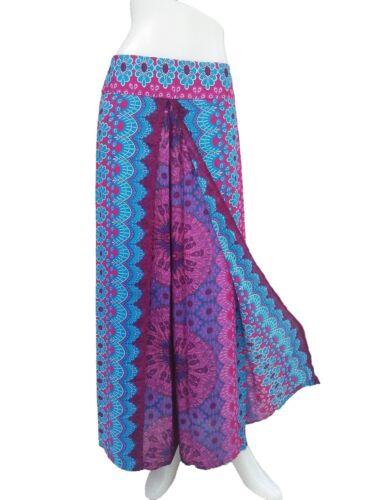 Pants PFD Ladies Wide Leg Palazzo Sarong Bohemian Gypsy Hippie Trousers Wrap