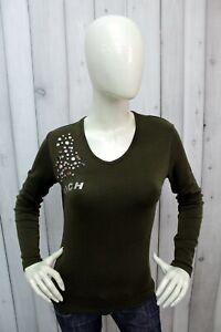 RICHMOND-Taglia-S-Donna-Maglia-Verde-T-Shirt-Woman-Casual-Maglietta-Manica-Lunga