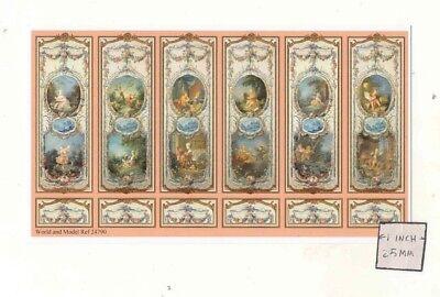 Wall Panel Sheet  24793 dollhouse World /& Model Half 1//24 Scale