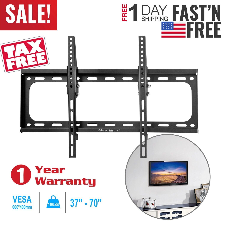 """Flat TV Wall Mount Bracket 15° Tilt Swivel For 27""""32""""37""""42"""""""