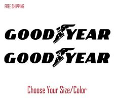2 Goodyear Vinyl Decals For Car Truck Suv Emblem Window Sticker Racing Motorcycl
