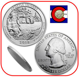 .999 Wisconsin 2018 ATB Apostle Islands Lakeshore uncirculated 5 troy oz