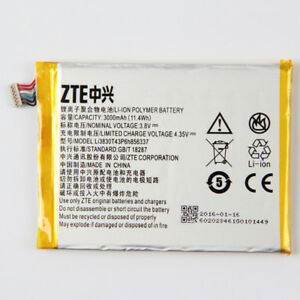 Details about Li3830t43p6h856337 - New Genuine Battery for ZTE G719C N939St  Blade S6 Lux Q7/-C