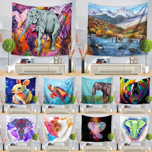 Boho Mandala Tapestry Wall Cloth Hanging Decor Tapestries Elephant Art Carpet