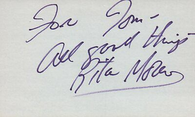 Self-Conscious Rita Moreno Actress Singer 1979 Les Mouch Tv Movie Autographed Signed Index Card 2019 New Fashion Style Online Autographs-original