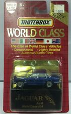 1993 Matchbox World Class Blue Jaguar XJ-6 #34. New.