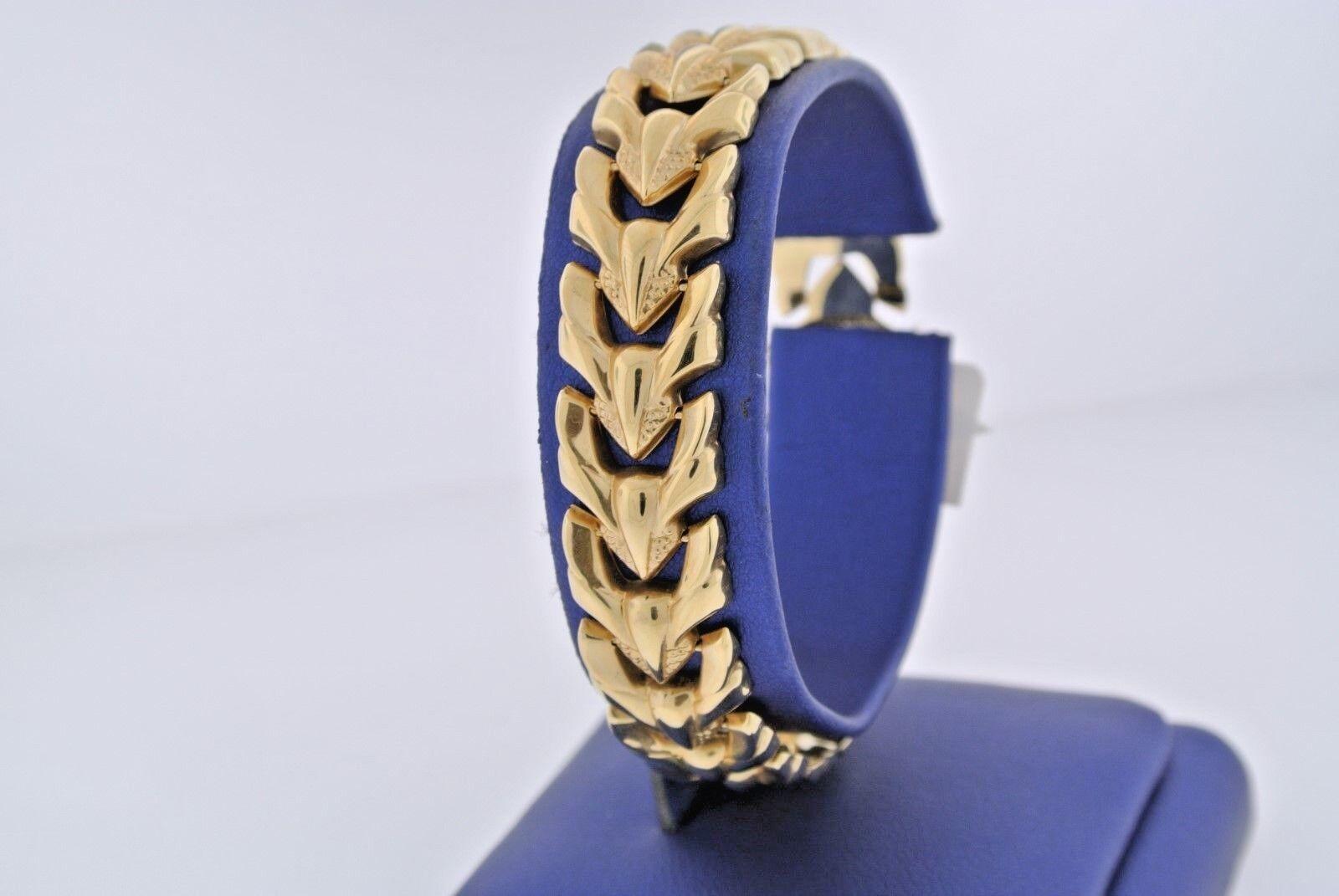 14k Yellow gold Ladies Fancy Bracelet, 7 Inches, 12.9gm, S103721