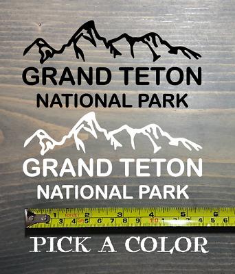 Jackson Hole Sticker Decal Ski Snowboard Wyoming Grand Teton National Park PO