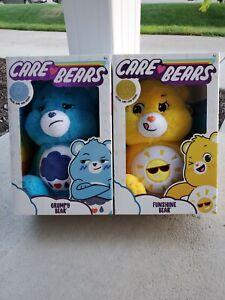 YELLOW FUNSHINE BEAR Plush Bundle 2020 *SHIPS NOW* CARE BEARS BLUE GRUMPY BEAR