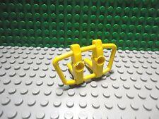 Lego 1 Yellow bumper push bar grill car truck with 2 pins