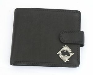 Pisces-The-Fish-Leather-Wallet-BLACK-or-BROWN-Astrology-Gift-277