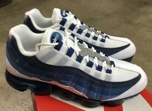 5c12964901cc Nike Air Vapormax 95 Slate Sz 9.5 White New Green French Blue NIB ...