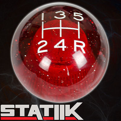 WHITE//RED FING FAST SHIFT KNOB 5 SPEED SHORT THROW SHIFTER LEVER 12X1.25 K03