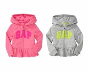 4e068c6af NWT Baby GAP Peplum Velvet Arch Logo Hoodie Sweatshirt Activewear ...