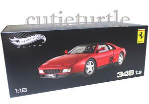Hot Wheels 1:18 Elite Ferrari 348 Ts Druckguss Rot X5480