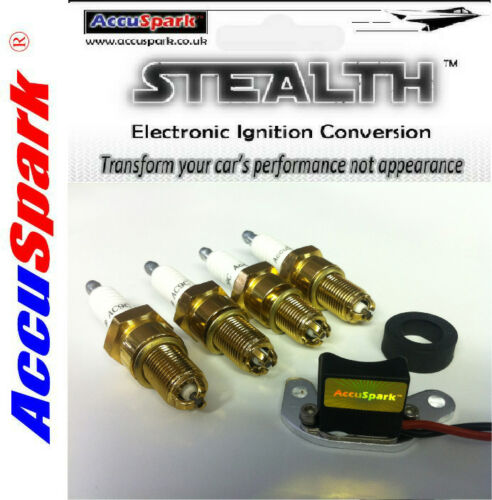 VW Beetle,Camper,Bus Stealth Electronic Ignition for 009 Distributor+Spark plugs