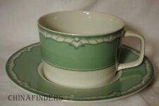 BRIARD china ACCENT Celadon Cup & Saucer Set