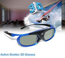 Battery Power Active Shutter 3D Glasses For 3D DLP Projector Acer BenQ Optama LG