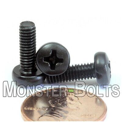 Steel Phillips Pan Head Screws M4 x 12mm Black Oxide