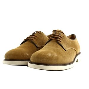 Elegant Shoes Casual Soldini Man Suede Yellow Ochre Sole Rubber Italy