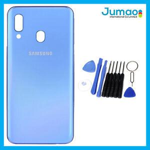 Vitre-arriere-capot-cache-batterie-Bleu-avec-Adhesif-Pour-Samsung-Galaxy-A40