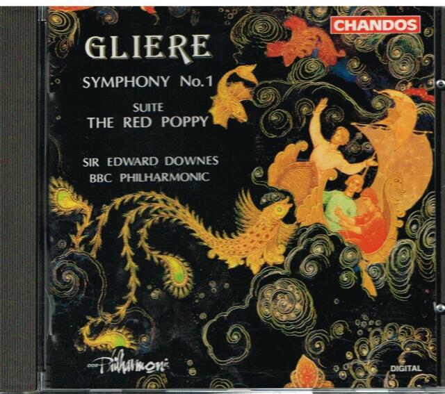 Gliere: Symphony No 1, Suite The Red Poppy / Edward Downes, BBC Philharmonic CD