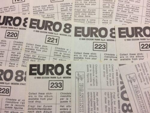 REUTER GERMANIA BRD -New EURO /'88 Panini 1988 62 Figurina-Sticker n