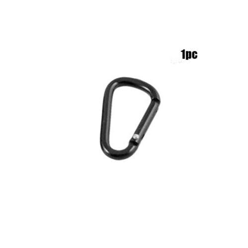1//5//10pcs  Black D Shaped Aluminum Alloy Carabiner Hook Key chain Outdoor Tool