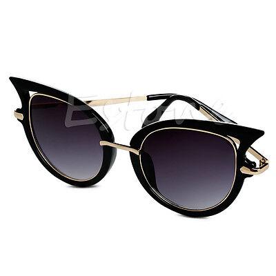 Vintage Women Mirror Metal Frame Sunglasses Golden Leg Cat Eye Shades Eyeglasses