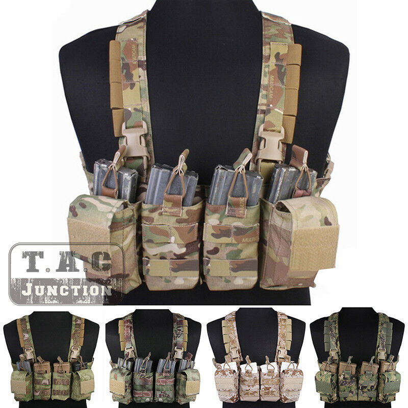 Emerson Tactical  Combat Rapid Assault Chest Rig Vest Harness w  Magazine Pouches  quality product