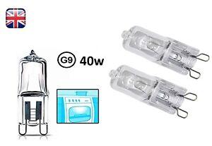 2x-G9-Halogen-Oven-Cooker-Lamp-Light-Bulb-40W-Clear-Capsule-240V-Temp-Tolerant