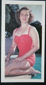Female-Diver-USA-Olympic-Gold-Medalist-1952-amp-1956-Photo-Card-VGC