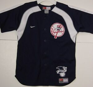 Details about NEW Boys Kids Youth Nike New York NY Yankees Blue Baseball AL  Patch MLB Jersey