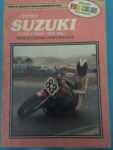 Clymer-Suzuki-Service-Repair-Maintenance-Manual-GS750-FOURS-1977-thru-1982