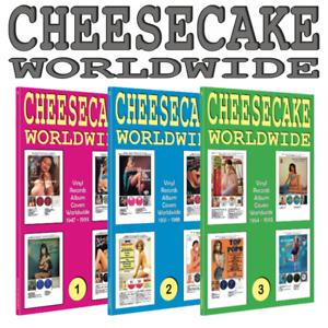 3-Libros-Cheesecake-en-todo-el-mundo-Discos-De-Vinilo-Fundas-de-album-en-todo-el-mundo-Lote