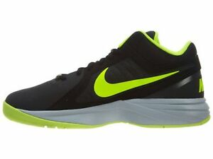 7c8580c13f8 NIKE THE OVERPLAY VIII NUBUCK SNEAKERS MEN SHOES BLACK 643168-006 ...