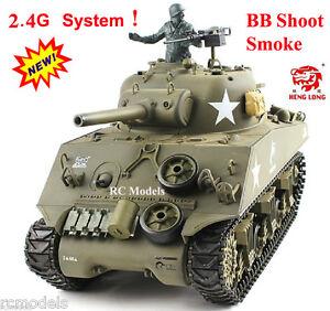 3f7b854ad6c1 Heng Long Radio Remote Control 2.4G RC Tanks M4A3 SHERMAN 1 16th UK ...