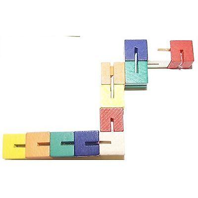 Wooden Twisty Blocks Multicolour Fidget / Fiddle / Stress Toy - Autism & ADHD