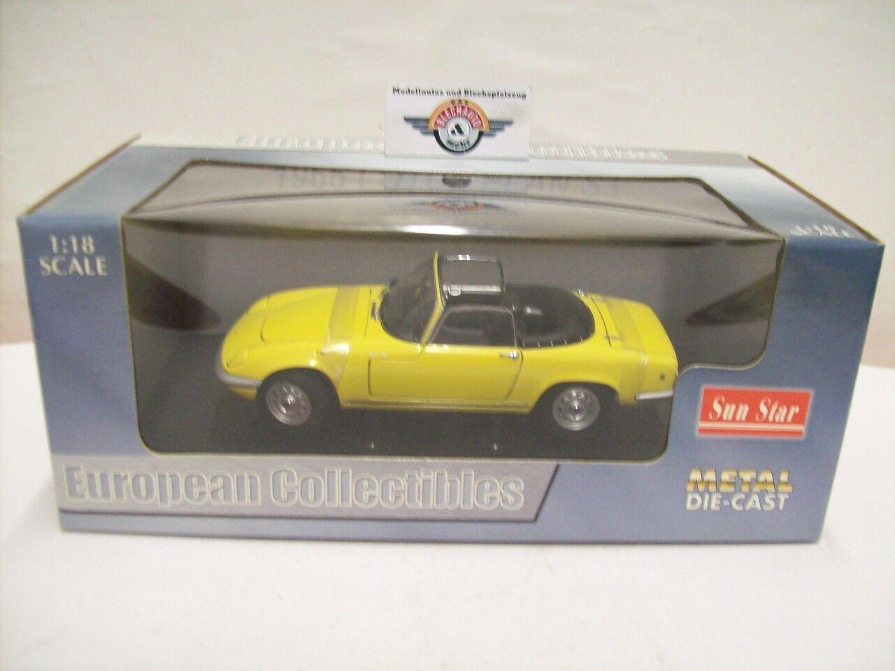 Lotus elan s3 Roadster, 1966, Yellow, Sun Star 1 18 Conf. Orig.