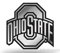 Ohio State Buckeyes Logo 3d Chrome Auto Decal Sticker Truck Car Rico