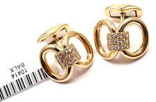 Rare! Authentic Piaget 18K Yellow Gold Diamond Cufflinks