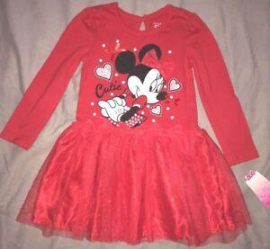 robe-neuve-etiquetee-disney-minnie-taille-4-ans-rouge