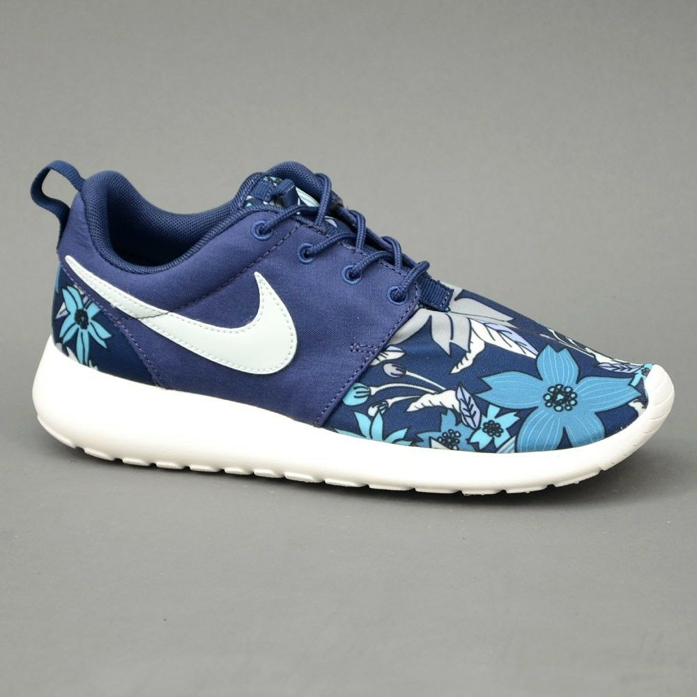 Womens Nike Roshe One Print Premium Neu Blau Gr:39 Presto Moire Sneaker Stoff