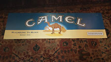 """Vintage Camel Lights poster Pleasure to Burn since 1913 RJR Tobacco 2000 15x49"""""""