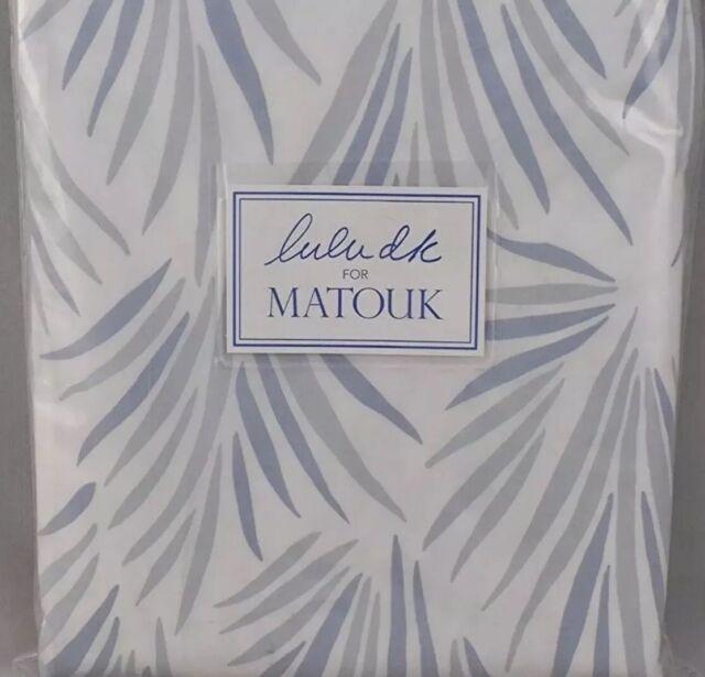 $448 Lulu DK Matouk New F/Q Duvet Cover 500TC Cotton Percale Palmyra