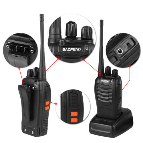 2PCS Baofeng BF-888S UHF 400-470 MHz 2-Way Ham Radio 16CH Walkie Talkie with Mic